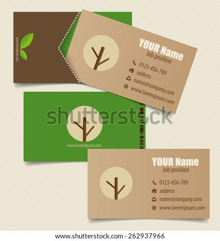 nature banner modern business card template stock vector 262937966