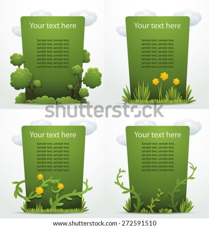 Nature banners set, vector - stock vector
