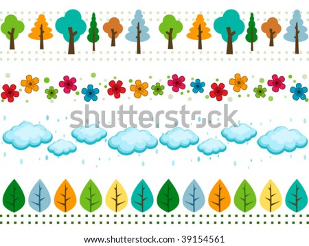 Nature Border Sets - Vector