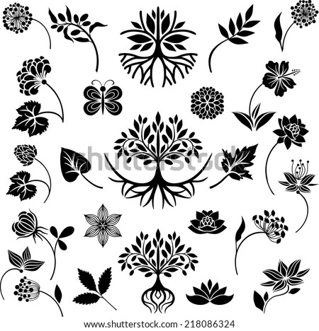 Nature collection - stock vector