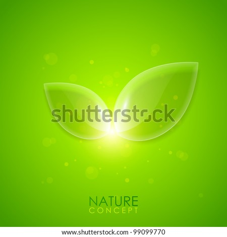 Nature concept background - stock vector