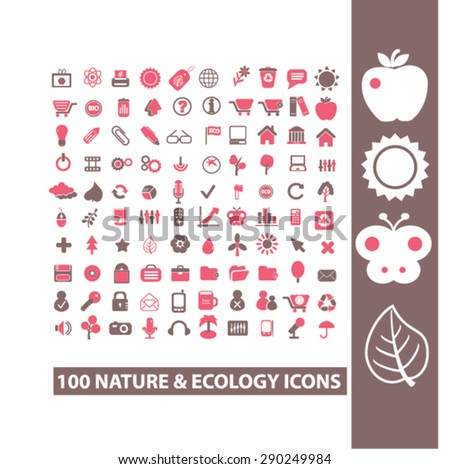nature, ecology, environment isolated icons, signs, illustrations for web, internet, mobile application, vector - stock vector