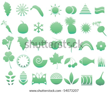Nature elements - stock vector