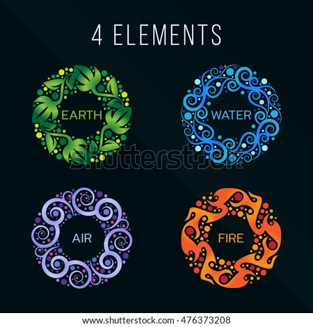 Four Elements Of Nature Stock Images Royalty Free Images