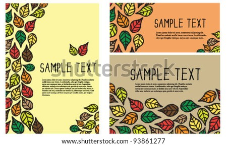 Nature greeting card templates - stock vector