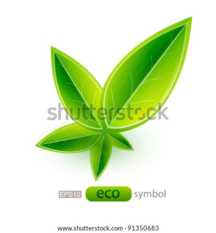 Nature leaf concept - stock vector