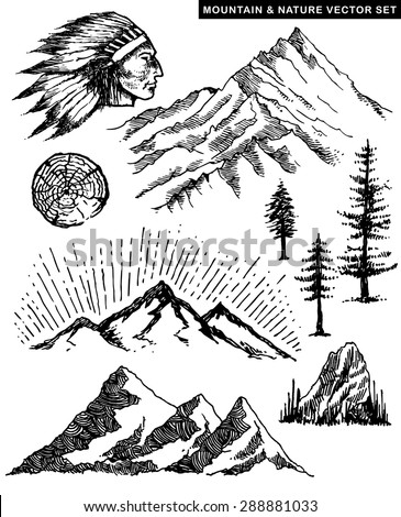 Nature Mountain vector illustration page 1