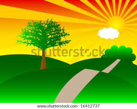 nature of summer - stock vector
