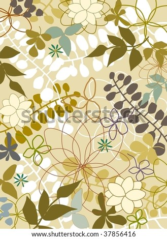 nature pattern 1 - stock vector