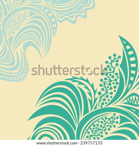 Nature pattern background with beautiful floral pattern design element vector illustration