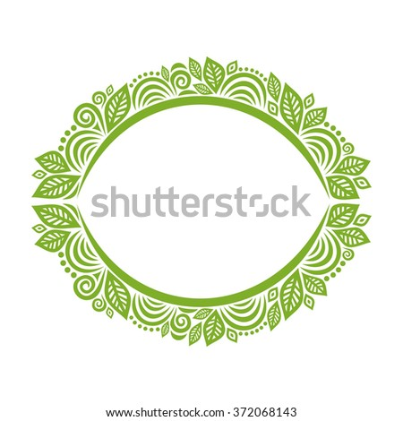Nature Pattern Frame Vector Illustration Stock Vector 372068143 ...