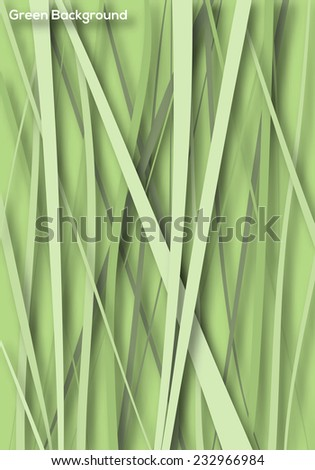 Nature Poster background template. Green abstract wallpaper, multi purpose concept use. Vector graphic design. - stock vector