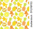 nature seamless pattern - stock vector