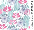 Nature seamless pattern in pastel color for background - stock vector