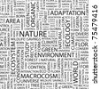 Nature. Seamless vector pattern with word cloud. Illustration with different association terms. - stock vector