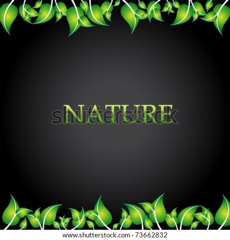 nature simple background - stock vector