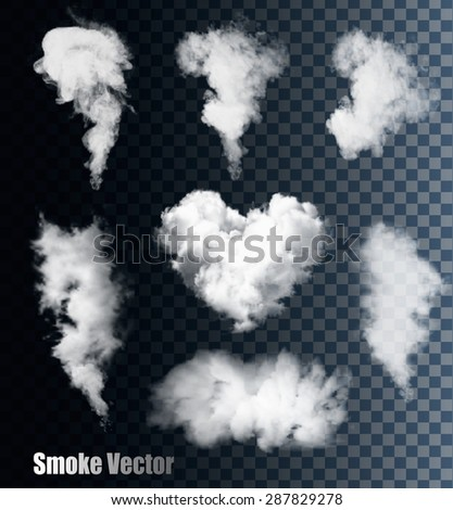 Nature Smoke Vectors On Transparent Background. - stock vector