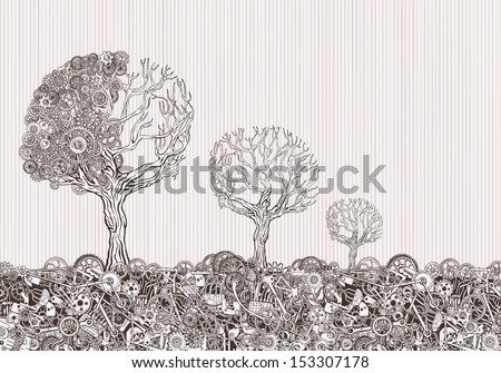 Nature technology. - stock vector