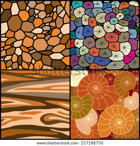 nature textures and backgrounds - stock vector