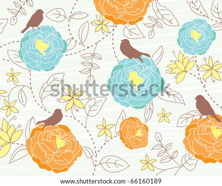 nature theme wallpaper - stock vector