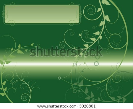 nature-themed background with text box. (design element) - stock vector