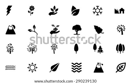 Nature Vector Icons 4 - stock vector