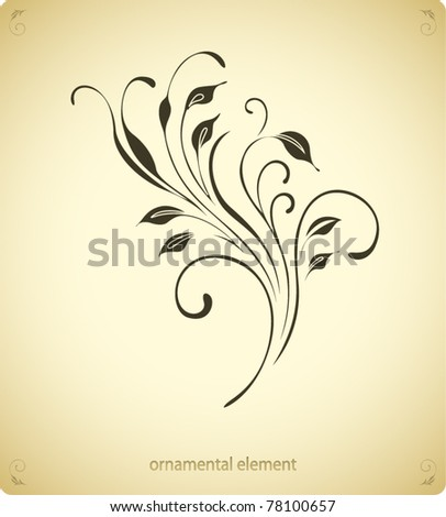 nature vintage background - stock vector