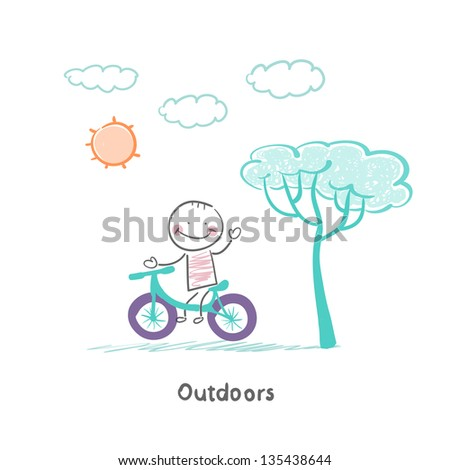 Nature walk - stock vector