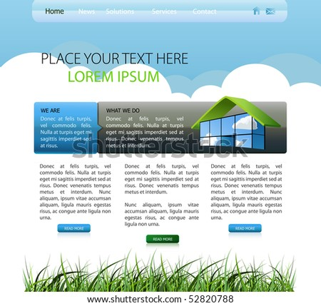 nature web design template EPS10