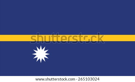 Nauru Flag for Independence Day and infographic Vector illustration. - stock vector