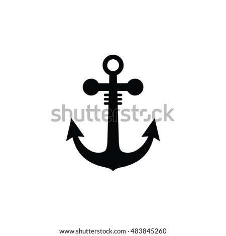 Nautical Anchor Silhouette