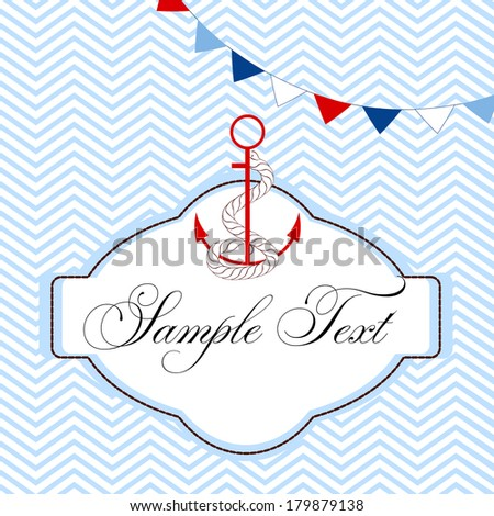 Nautical card - stock vector