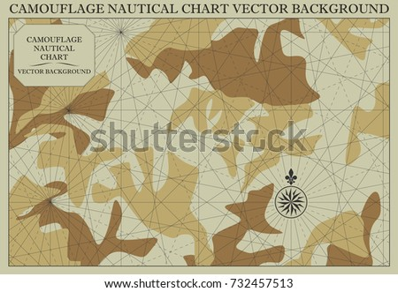 Nautical chart camouflage pattern vector background stock vector nautical chart with camouflage pattern vector background gumiabroncs Choice Image