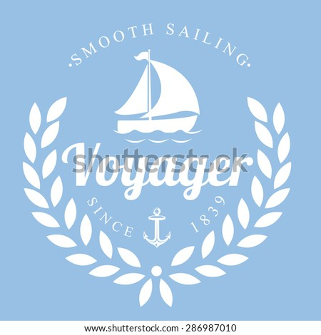 Nautical Label - stock vector