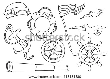 nautical object - stock vector