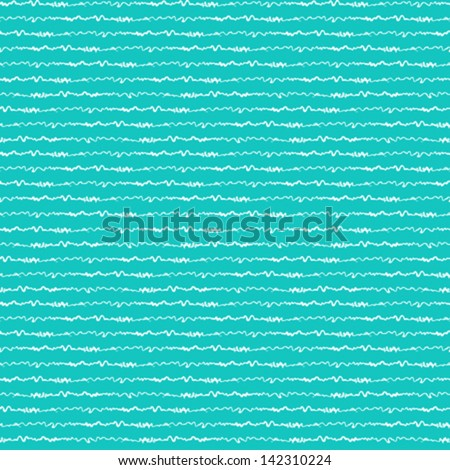 Nautical pattern inspired by ocean and sea waves in turquoise color. Texture for web, print, wallpaper, home decor, spring summer fashion fabric, textile, invitation or website background. Marine set. - stock vector