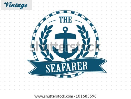 Nautical Premium  Label - stock vector