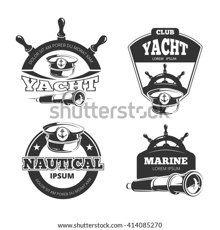 nautical signs labels badges yacht club stock photo photo vector rh shutterstock com sessa marine logo vector marine logo vector file
