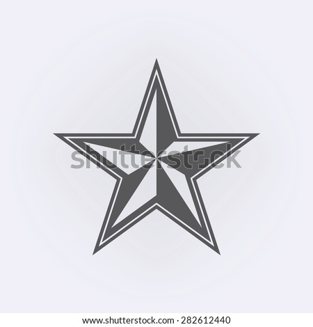nautical star icon stock vector hd royalty free 282612440 rh shutterstock com Murder Mitten Vector Girly Tattoo Vectors