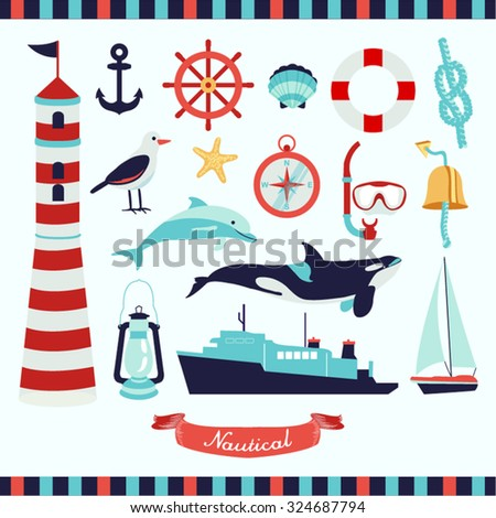 Nautical Vector Design Illustration - stock vector