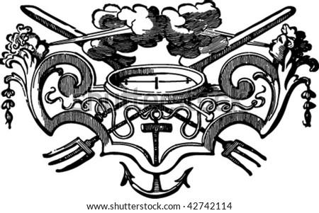 nautical vector vignette - stock vector