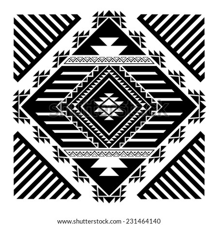 Aztec Vector Elements Set Stock Vector 143444161