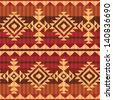 Navajo style seamless pattern - stock vector