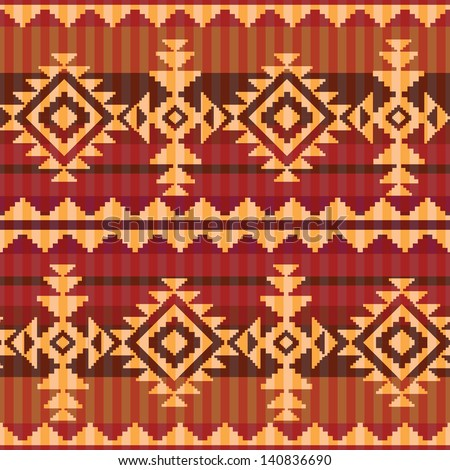 Navajo style seamless pattern - stock vector