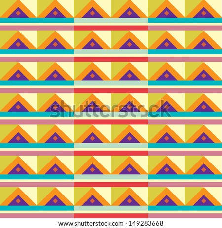 Navajo tribal triangle aztec pattern - stock vector