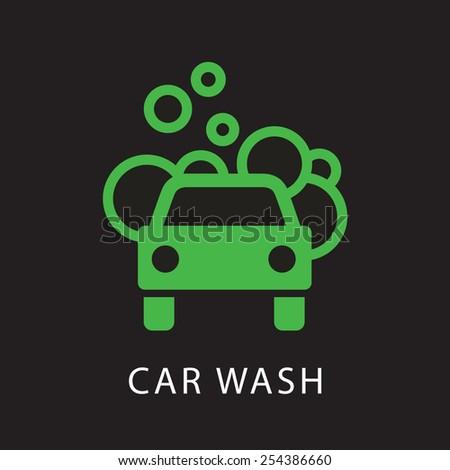 Navigation car wash icon - stock vector