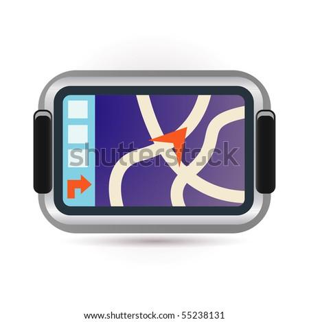 navigation icon - stock vector