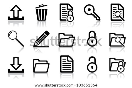 Navigation icon set. Vector illustration of different interface web icons - stock vector