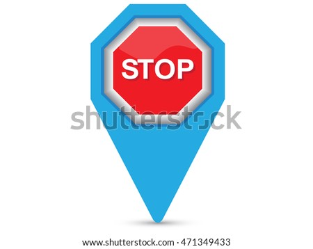 Navigation icon Stop.Vector