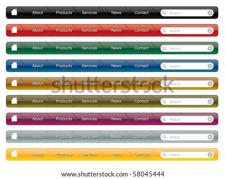 navigation menu - stock vector